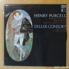 Discos de vinilo: HENRY PURCELL / ALFRED DELLER - MUSIQUE DE SCENE / AIRS D OPERAS 7 ODES ET CHANTS SACRES - LP. Lote 179385220