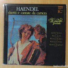 Discos de vinilo: HAENDEL - DUETTI E CANTATE DA CAMERA / CONCERTO VOCALE - GATEFOLD - LP. Lote 179385233