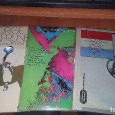 Discos de vinilo: JORGE CAFRUNE, CANTA A SU PAMPA, LA INDEPENDENCIA, CANTO AL PARAGUAY, NUEVOS. Lote 179387050