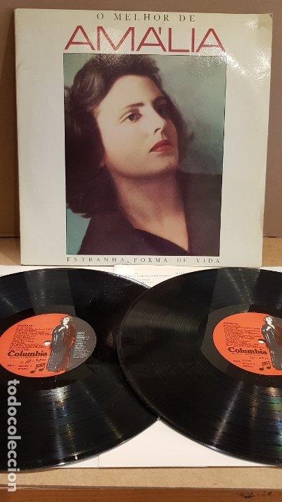 O MELHOR DE AMÁLIA / ESTRANHA FORMA DE VIDA / DOBLE LP - COLUMBIA-PORTUGAL-1985 / MBC. ***/*** (Música - Discos - LP Vinilo - Étnicas y Músicas del Mundo)