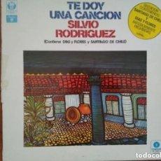 Discos de vinilo: SILVIO RODRÍGUEZ -TE DOY UNA CANCION (LP) 1984. Lote 179387395