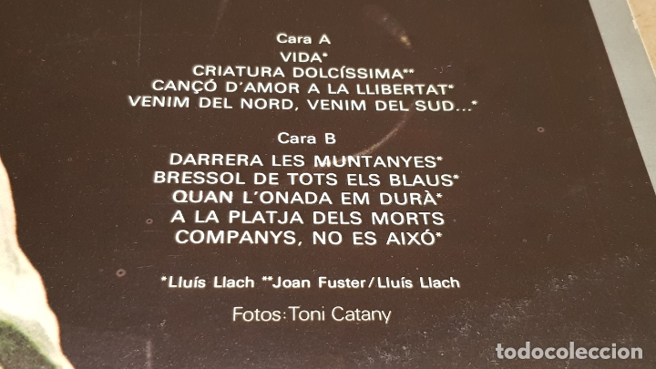 Discos de vinilo: LLUÍS LLACH / 1979 / LP - ARIOLA - 1979 / MBC. ***/*** - Foto 3 - 179390750
