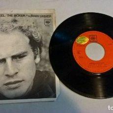 Discos de vinilo: MUSICA SINGLE: SIMON & GARFUNKEL - THE BOXER / BABY DRIVER. Lote 179396502