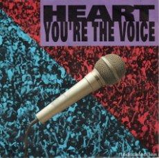 Discos de vinilo: HEART - YOU'RE THE VOICE / CALL OF THE WILD (SINGLE ALEMAN, CAPITOL RECORDS 1991). Lote 179399770