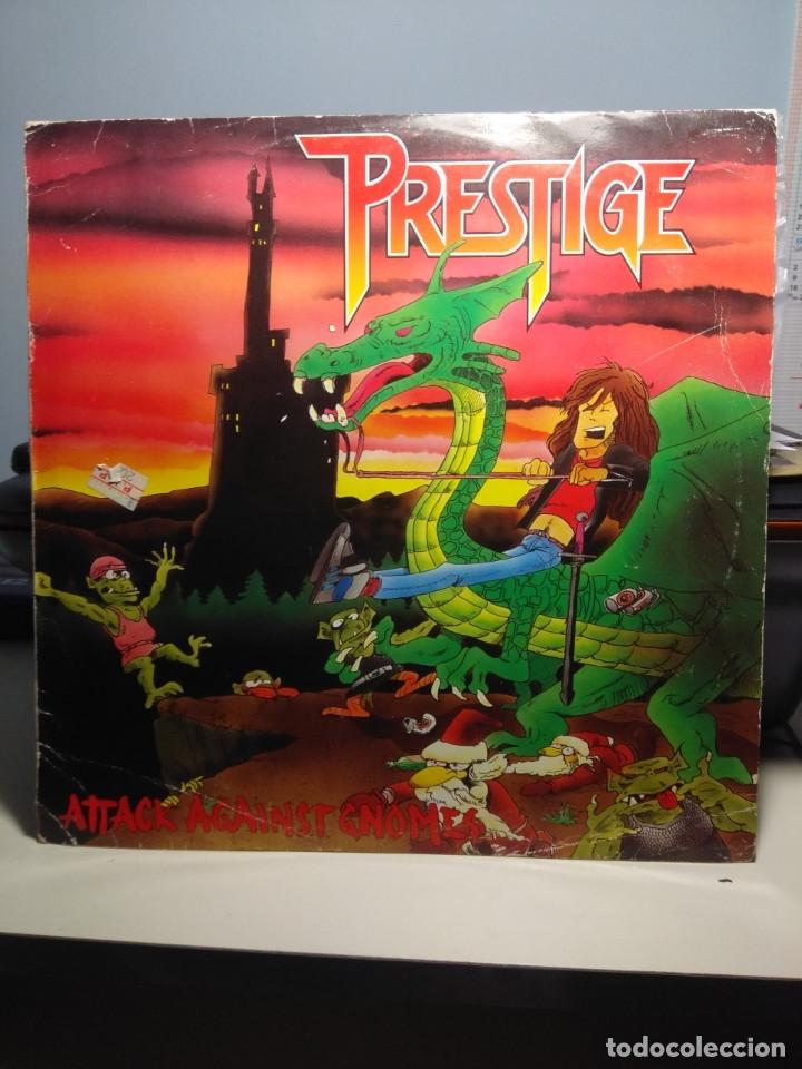 LP PRESTIGE : ( FINLAND ROCK METAL TRASH BAND ) : ATTACK AGAINST GNOMES (Música - Discos - LP Vinilo - Heavy - Metal)