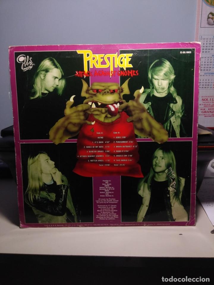 Discos de vinilo: LP PRESTIGE : ( FINLAND ROCK METAL TRASH BAND ) : ATTACK AGAINST GNOMES - Foto 2 - 179400506