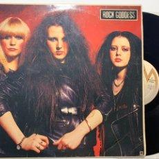 Discos de vinilo: DISCO LP VINILO ROCK GODDESS EDICIÓN ORIGINAL ESPAÑOLA DE 1983. Lote 179404430
