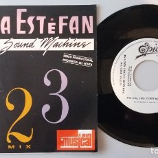 Discos de vinilo: GLORIA ESTEFAN & MIAMI SOUND MACHINE / THE ONE, TWO, THREE MIX / SINGLE 7 INCH. Lote 179518138