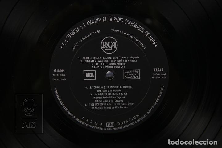 Discos de vinilo: Disco LP De Vinilo - Musica de Peliculas / El Puente Sobre el Rio Kwai, Moulin Rouge - RCA 1959 - Foto 3 - 179518718