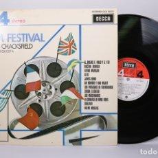 Discos de vinilo: DISCO LP DE VINILO - FILM FESTIVAL / FRANK CHACKSFIELD CON SU ORQUESTA - DECCA - AÑO 1975. Lote 179518763
