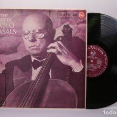 Discos de vinilo: DISCO LP DE VINILO - THE ART OF PABLO CASALS - RCA VICTOR - AÑO 1964. Lote 179518768