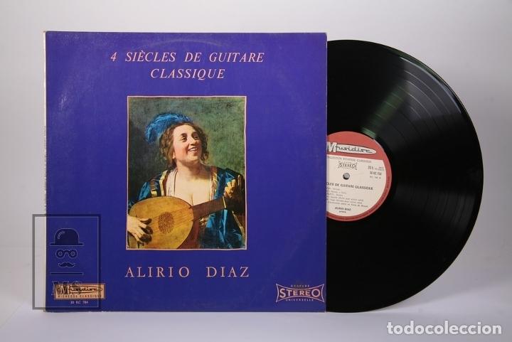 DISCO LP DE VINILO - ALIRIO DIAZ / 4 SIÈCES DE GUITARE CLASSIQUE - MUSIDISC - MADE IN FRANCE (Música - Discos - LP Vinilo - Clásica, Ópera, Zarzuela y Marchas)