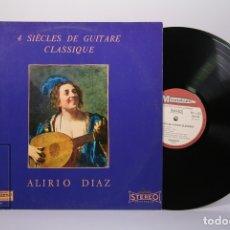 Discos de vinilo: DISCO LP DE VINILO - ALIRIO DIAZ / 4 SIÈCES DE GUITARE CLASSIQUE - MUSIDISC - MADE IN FRANCE. Lote 179518872
