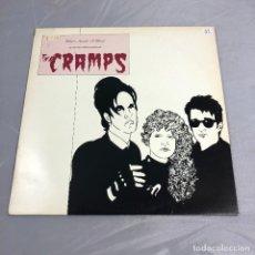 Discos de vinilo: DISCO VINILO LP, THE CRAMPS, WHAT'S INSIDE A GHOUL AN INTERVIEW LUX AND LVY OF. VINOLO VERDE. Lote 179520916
