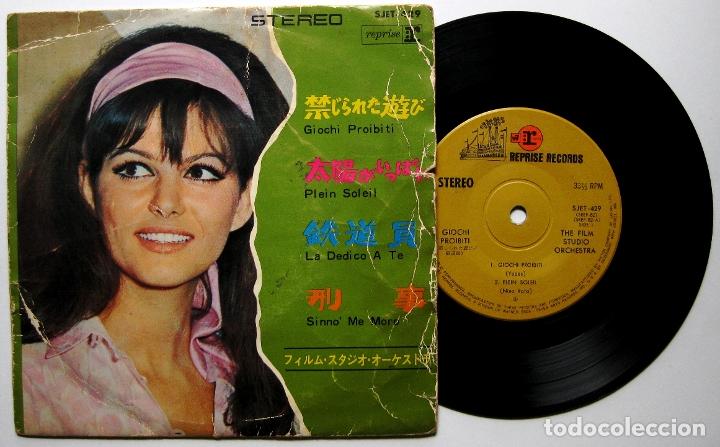 THE FILM STUDIO ORCHESTRA - GIOCHI PROIBITI +3 - EP REPRISE RECORDS 1966 JAPAN BPY (Música - Discos de Vinilo - EPs - Bandas Sonoras y Actores)