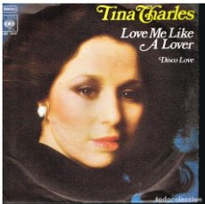 Discos de vinilo: TINA CHARLES - LOVE ME LIKE A LOVER / DISCO LOVE - SINGLE 1976 - ED. ALEMANIA. Lote 179522745