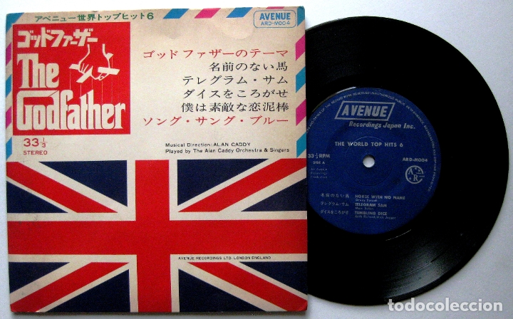 ALAN CADDY ORCHESTRA & SINGERS - THE GODFATHER (THE WORLD TOP HITS 6) - EP AVENUE 1972 JAPAN BPY (Música - Discos de Vinilo - EPs - Bandas Sonoras y Actores)