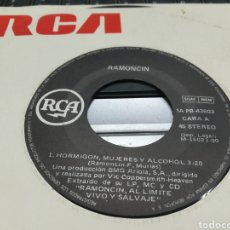 Discos de vinilo: RAMONCIN SINGLE HORMIGÓN,MUJERES Y ALCOHOL 1990. Lote 179530172