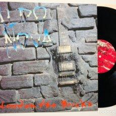 Discos de vinilo: DISCO LP VINILO ALDO NOVA – BLOOD ON THE BRICKS PRIMERA EDICION EUROPEA DE 1991. Lote 179531967