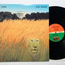 Discos de vinilo: DISCO LP VINILO WHITE LION – BIG GAME PRIMERA EDICION EUROPEA DE 1989. Lote 179532615