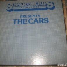 Discos de vinilo: THE CARS RADIO IN CONCERT (SUPERGROUPS 1979)2 LP BOX PROMO ULTRARARO RADIO ORIGINAL. Lote 179533832