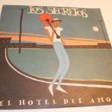 Discos de vinilo: SINGLE LOS SECRETOS EL HOTEL DEL AMOR. TWINS 1991 SPAIN (PROBADO Y BIEN, SEMINUEVO). Lote 179535645