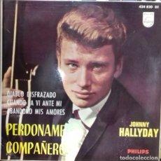 Discos de vinilo: JOHNNY HALLYDAY - PERDONAME COMPAÑERO / DIABLO DISFRAZADO / ... EP ED. ESPAÑOLA 1964. Lote 179537788