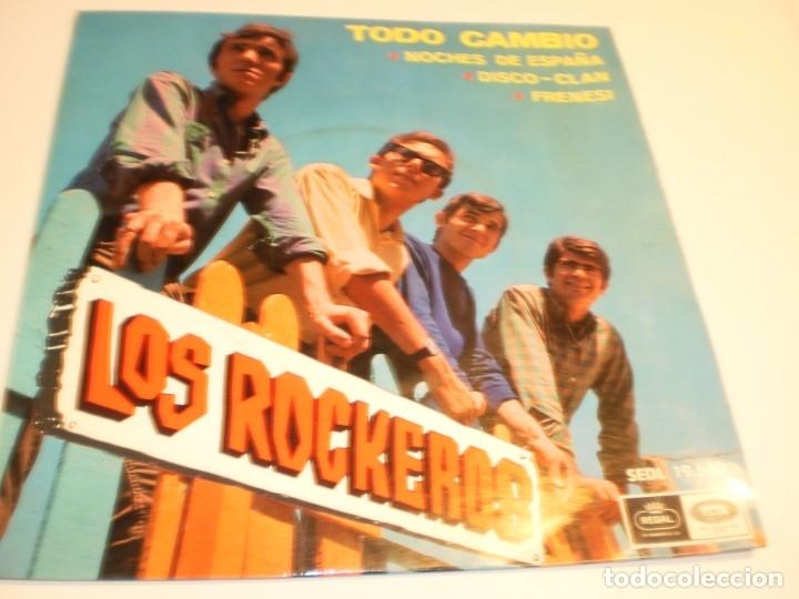 LOS ROCKEROS. TODO CAMBIÓ. NOCHES DE ESPAÑA. DISCO CLAN. FRENESÍ. REGAL 1966 (PROBADO Y SEMINUEVO) (Música - Discos - Singles Vinilo - Grupos Españoles 50 y 60)
