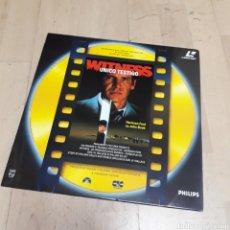 Discos de vinilo: WITNESS, HARRISON FORD, ÚNICO TESTIGO, LÁSER DISC. Lote 179539320