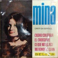 Discos de vinilo: MINA - CANTA EN ESPAÑOL CIUDAD SOLITARIA EP ED. ESPAÑOLA 1964. Lote 179541787