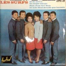 Discos de vinilo: LES SURFS - SE MI NOVIA/ MI MEJOR AMIGO / ... EP ED. ESPAÑOLA 1963. Lote 179542170
