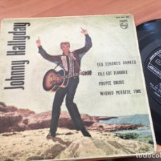 Discos de vinil: JOHNNY HALLYDAY (TES TENDRES ANNEES +3) EP ESPAÑA 1963 (EPI14). Lote 179542175