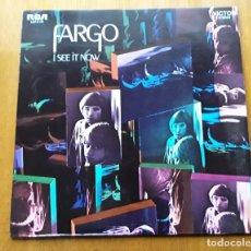 Discos de vinilo: FARGO I SEE IT NOW (RCA LSP-4178 - USA 1969) POPADELIC FOLK ROCK ORIGINAL LP. Lote 179543251