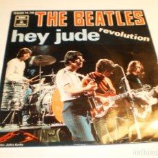 Discos de vinilo: SINGLE THE BEATLES. HEY JUDE. REVOLUTION. EMI 1968 SPAIN (PROBADO Y BIEN, MUY BUEN ESTADO). Lote 179546307
