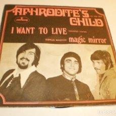 Discos de vinilo: APHRODITE'S CHILD (DEMIS ROUSSOS) I WANT TO LIVE. MAGIC MIRROR. MERCURY 1969 SPAIN (PROBADO Y BIEN). Lote 179557582
