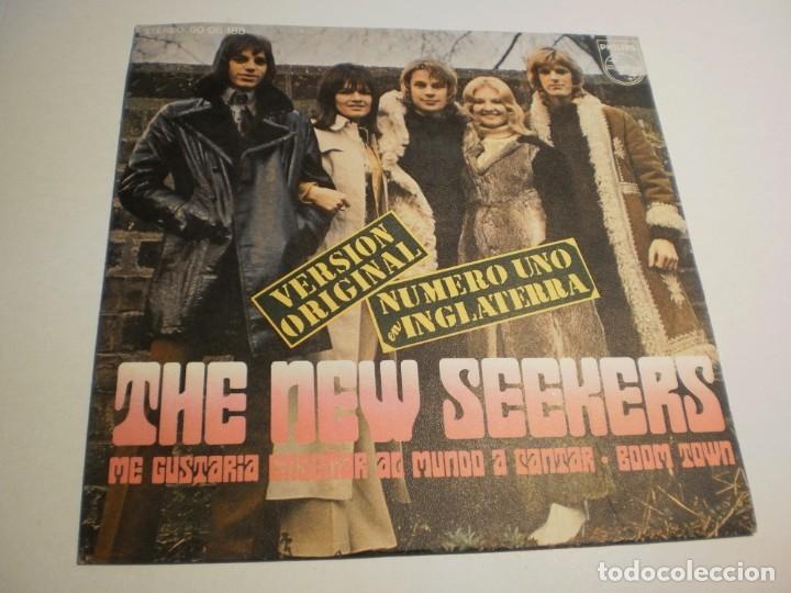 THE NEW SEEKERS ME GUSTARÍA ENSEÑAR AL MUNDO A CANTAR. BOOM TOWN. PHILIPS 1972 SPAIN (PROBADO Y BIEN (Música - Discos - Singles Vinilo - Pop - Rock - Extranjero de los 70)