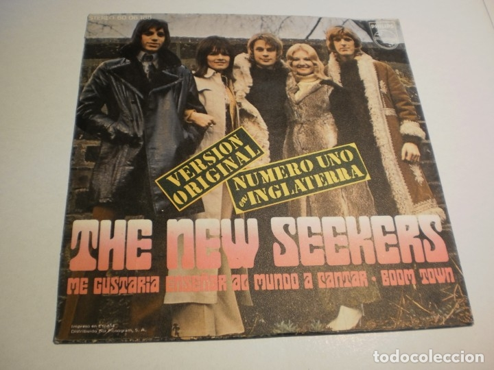 Discos de vinilo: the new seekers me gustaría enseñar al mundo a cantar. boom town. philips 1972 spain (probado y bien - Foto 2 - 179558126