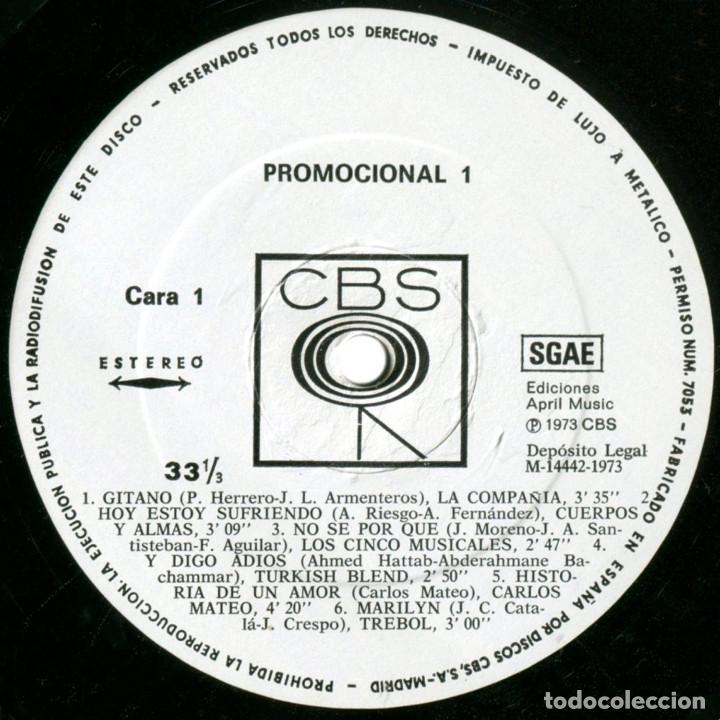 Discos de vinilo: VVAA (Cuerpos y Almas, Tabaca, Trebol...) - Promocional 1 - Lp promo Spain 1973 - CBS - Foto 3 - 179558192