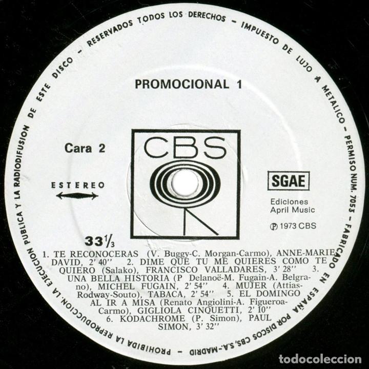 Discos de vinilo: VVAA (Cuerpos y Almas, Tabaca, Trebol...) - Promocional 1 - Lp promo Spain 1973 - CBS - Foto 4 - 179558192