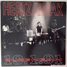 Discos de vinilo: HERTZAINAK - ZUZEAN 19.1.91 / 2LPS VINYL MADE IN SPAIN 1991 AKETO RECORDS. (COMO NUEVO). Lote 179558532