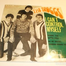 Discos de vinilo: THE TROGGS. I CAN'T CONTROL MYSELF. WHEN I'M WITH YOU. HI HI HAZEL. GONNA MAKE YOU. 1966 SEMINUEVO. Lote 179559547