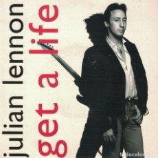 Discos de vinilo: JULIAN LENNON - GET A LIFE / BUNGEE MIX VERSION (SINGLE INGLES, VIRGIN 1992, CONTIENE HOJA PROMOCION. Lote 179944067