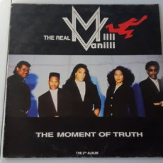 Discos de vinilo: THE REAL MILLI VANILLI. THE MOMENT OF TRUTH. 1990-1991. ESPAÑA. ARIOLA. HANSA.. Lote 179944281