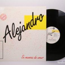 Discos de vinilo: MAXI SINGLE DE VINILO - ALEJANDRO ABAD SU MANERA DE AMAR - LEIBERO 1984 - DEDICATORIA Y AUTOGRAFO. Lote 179946738
