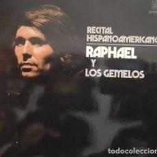 Discos de vinilo: RAPHAEL - RECITAL HISPANOAMERICANO - LP DE VINILO 1ª EDICION ESPAÑOLA #. Lote 179948531