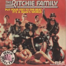 Discos de vinilo: THE RITCHIE FAMILY - PUT YOUR FEET TO THE BEAT / IT'S A MAN'S WORLD (SINGLE ESPAÑOL, RCA 1979). Lote 179950558