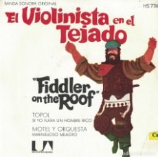 Discos de vinilo: TOPOL - SI YO FUERA RICO / MOTEL Y ORQUESTA - MARAVILLOSO MILAGRO (SINGLE ESPAÑOL, UA RECORDS 1971). Lote 179954116