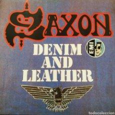 Discos de vinilo: SAXON - DENIM AND LEATHER - EUROPA - EMI - 1981 - EXCELENTE. Lote 179957178