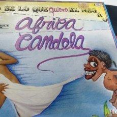 Discos de vinilo: MAXISINGLE ( VINILO) - DE AFRICA CANDELA AÑOS 80. Lote 179958641