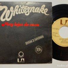 Discos de vinilo: SINGLE EP VINILO WHITESNAKE MUY LEJOS DE CASA LONG WAY FROM HOME EDICION ESPAÑOLA DE 1979. Lote 179959017